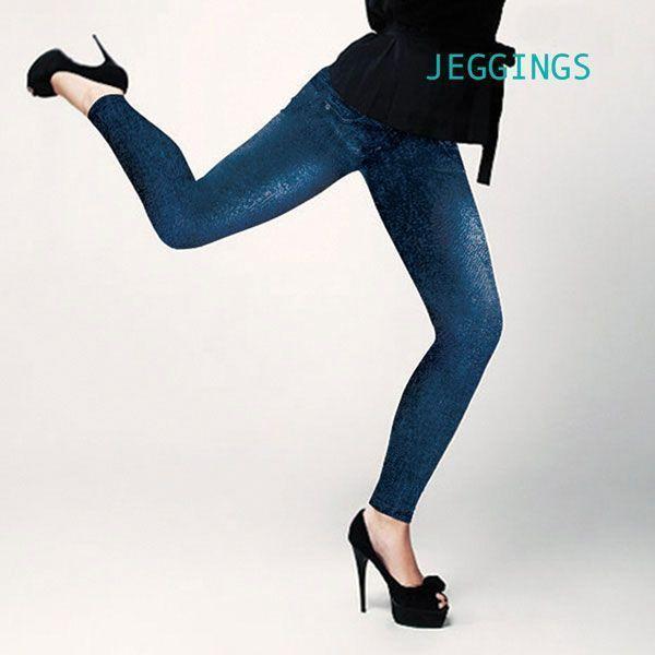 SLIM Jeggings Vintage Pantalons Femme Sexy Jean Leggins Moulant Couleur Bleu annoncé en tv, magasin par télévision, vu en tv, tv, télé-achat Groupon Lot pour Loto