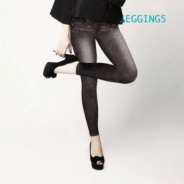 Jeggings Vintage Pantalons Femme Sexy Jean Leggins Moulant Couleur Noir annoncé en tv, magasin par télévision, vu en tv, tv, télé-achat Groupon Lot pour Loto