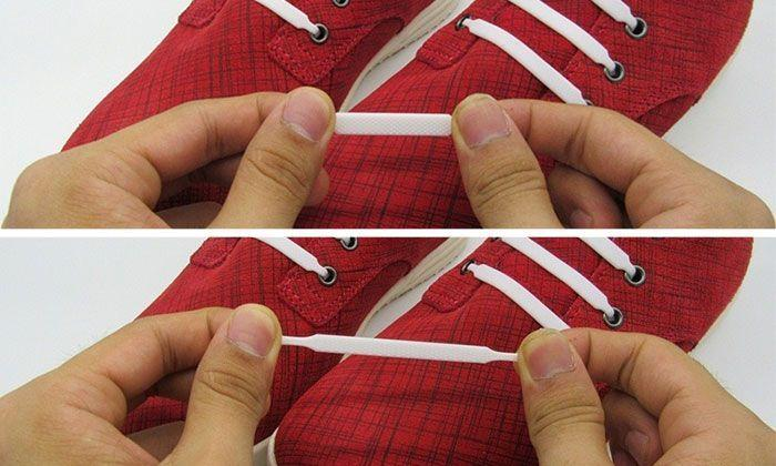 Lacets Élastiques Sans Noeuds en Silicones Basket Style Converse GROUPON