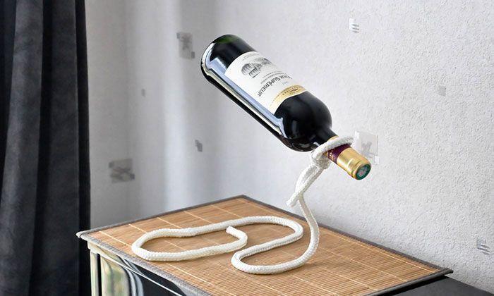 Lasso Corde PorteBouteilles Magique - Porte bouteille de vin