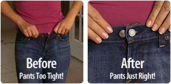 Lot de 6 Boutons Magiques Rallonge pour un Ajustement Parfait de vos Jeans et Pantalons Perfect Fit Button