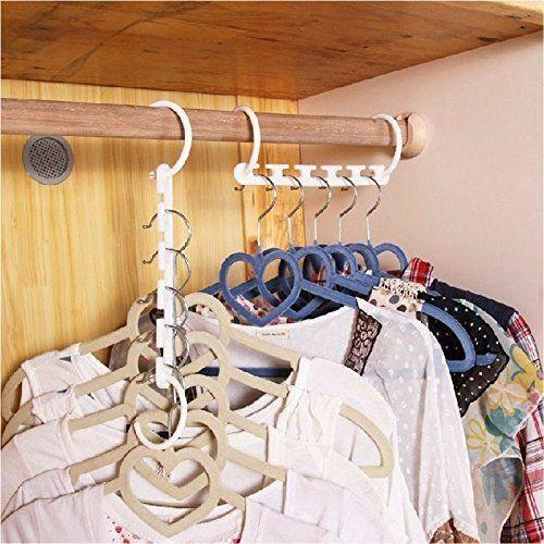 lot de 8 Cintres Multiples Save Space Hanger Cintre Multiple Magique Groupon