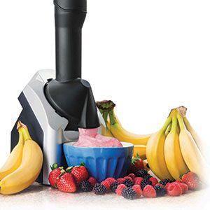 Machine à Yaourts Glacés Sorbetière Pour Crèmes Glacées Glaces Sorbets Avec Fruits de Saison vu à la télé Groupon Lot pour Loto