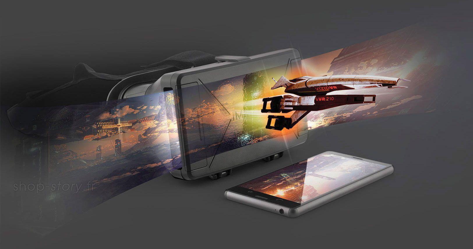 Masque Lunettes de Réalité Augmentée pour une Expérience Immersive en 3D.