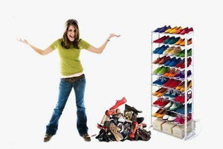 Meuble Organisateur Range Chaussures 25 À 30 Paires Étagère Placard Armoire Shoes Rack Groupon Lot pour Loto