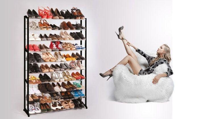 Meuble Organisateur Range Chaussures 50 Paires Étagère Placard Armoire Shoes Rack Groupon Lot pour Loto