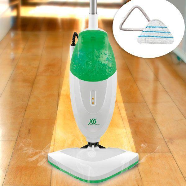 Broom Steam Double Tank Steam H2o Mop X6 2 Wipes