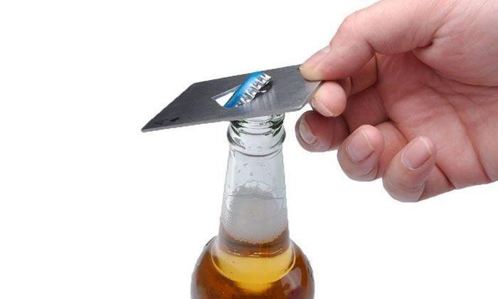 Ouvre-Bouteille Bière Décapsuleur As de Pique En Acier Inoxydable Format Carte de Crédit Poker Casino Groupon