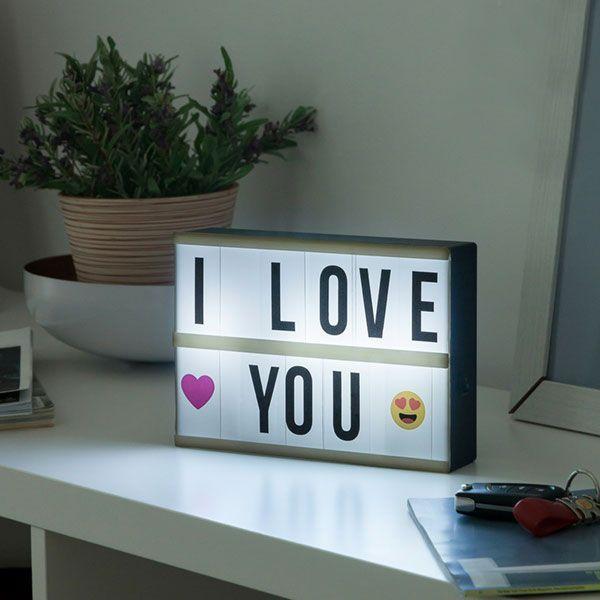 Moyen Panneau Lampe boite Customiser LED Light Box lumineuse Retro-eclaire Message Vu à la Télé Groupon