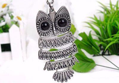 Pendentif Collier Hibou Chouette Style Vintage Groupon