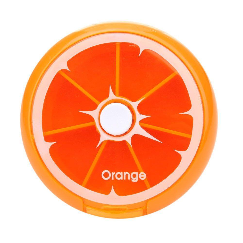 PilBox Pill Box Pilulier Agrumes avec Bouton de Distribution Orange GROUPON