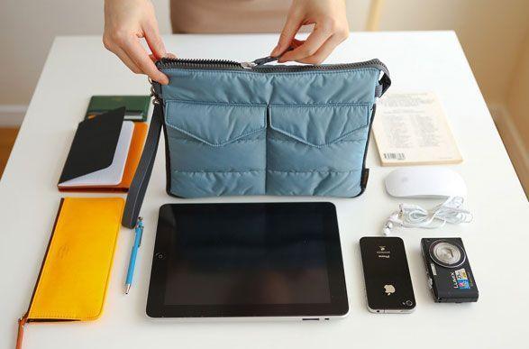 Pochette Etui Organisateur Sac Matelassé Transport Tablette Téléphone Livre IPAD Etc GROUPON AMAZON