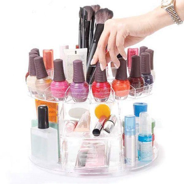 boite rangement organisateur maquillage home nail salon caddy
