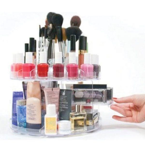 Boite rangement organisateur maquillage home nail salon - Boite a maquillage rangement ...