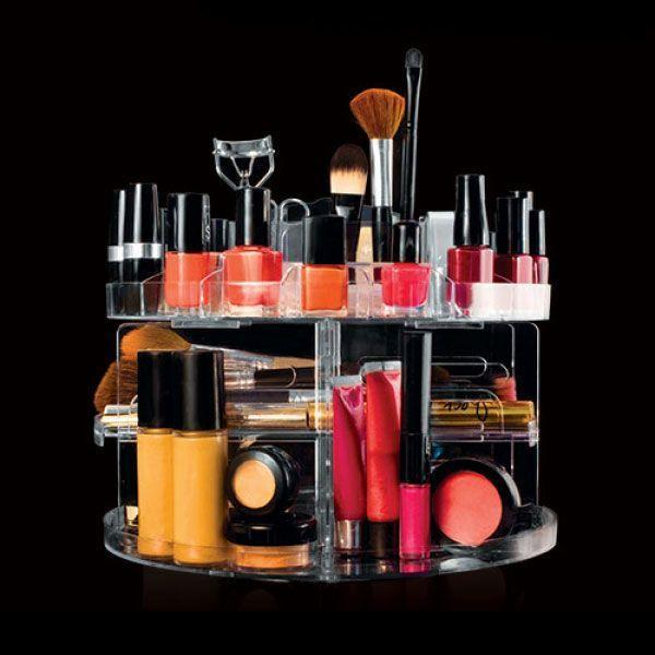 Coffret Présentoir Cosmétique et Boîte Rangement Organisateur Maquillage Vernis à ongle Glam Caddy Rotating Organizer GROUPON AMAZON