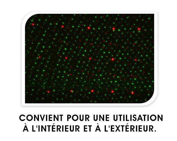 Projecteur laser de Noël avec capteur Christmas Planet Star Shower GROUPON
