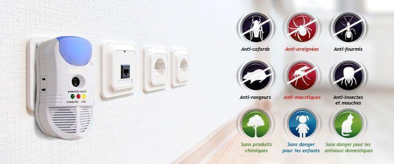 Répulsif Sur Prise Anti-Insectes Anti-Nuisibles 5-en-1 À Ultrason Pest eProtect Groupon Lot pour Loto