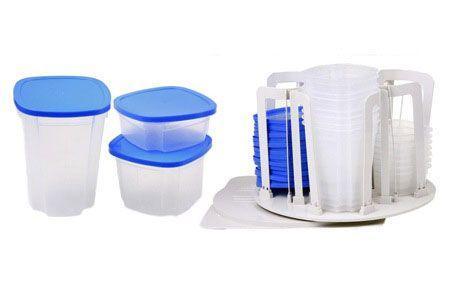 Boites de conservation avec plaque de rangement tournante - Boites de rangement plastique pas cher ...