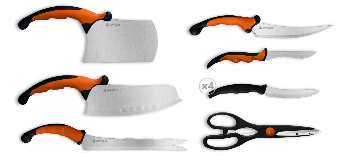 Set de 9 Couteaux de Cuisine Ergonomique Pour Professionnel Ceramicle Groupon Lot pour Loto