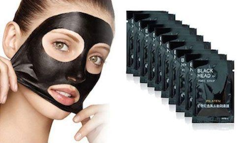 lot de 10 black mask anti points noirs 9 99 masque de charbon. Black Bedroom Furniture Sets. Home Design Ideas