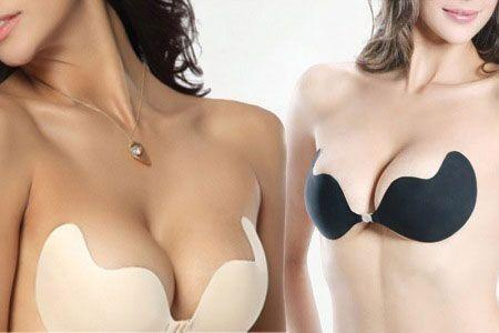 Soutien-Gorge Invisible Sans Bretelle Auto-Adhésif Silicone Push Up Sein Nu Bra Bonnets GROUPON AMAZON
