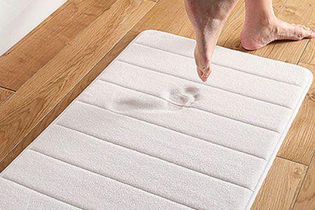 tapis de bain mmoire de forme ultra confortable pour salle de bain groupon - Tapis Salle De Bain