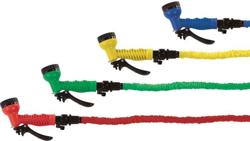 Tuyaux d'arrosage extensible + pistolet à eau multifonctions Pocket hose