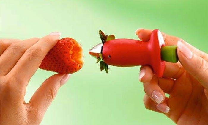 Équeuteur à Fraises Tomates Chef'n Stemgem Strawberry Huller Groupon