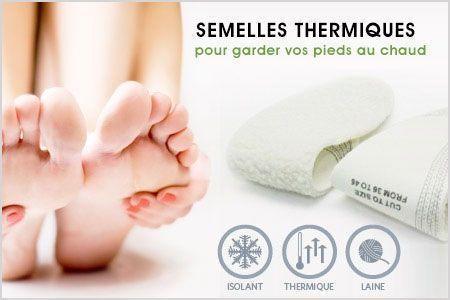 Thermic Insoles Semelles thermiques pour garder les pieds au chaud